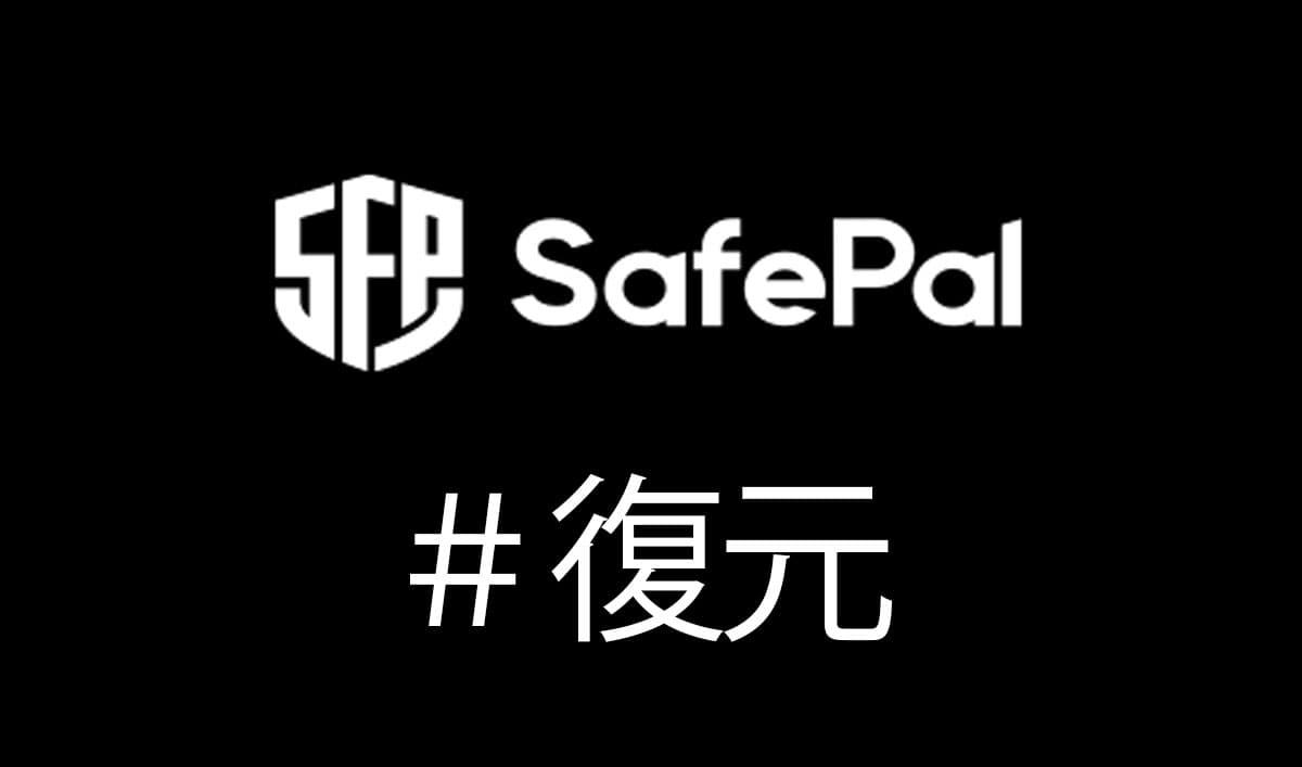 HELP!SafePal S1 Walletの復元(リカバリー)方法|故障・紛失への備え